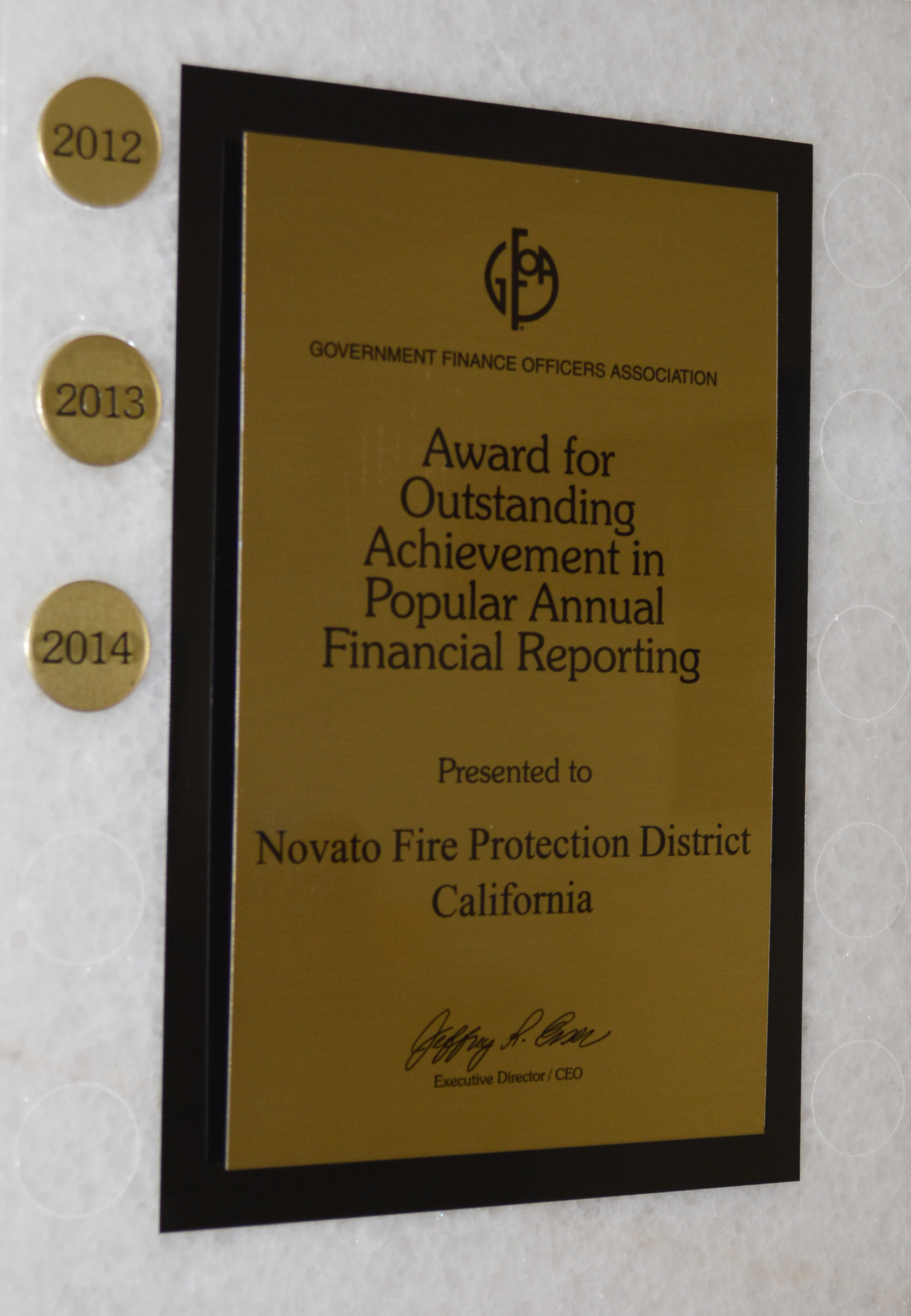 Popular Annual Financial Report Award