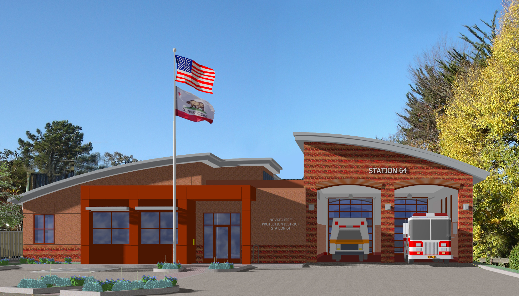 station 64 drawing